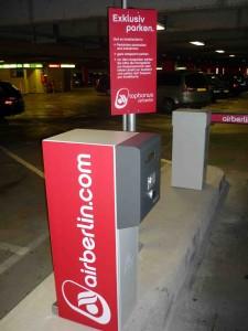 Exklusives Parken für airberlin-Kunden
