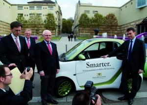 Smart noch smarter: Projektpräsentation vor der Stuttgarter Staatsgalerie – Foto: Fetzi Baur