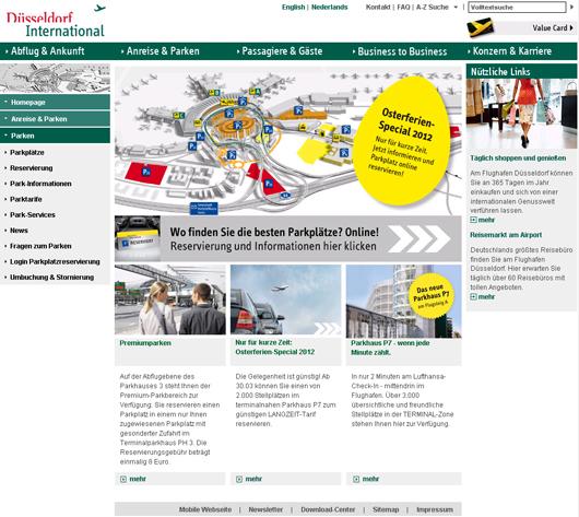 Parkplätze am Düsseldorfer Flughafen online reservieren