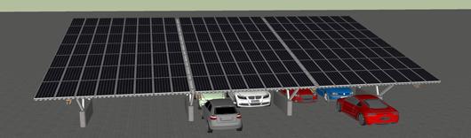 Beliebig erweiterbar: ESC Solar-Carports – Foto: ECS Solar