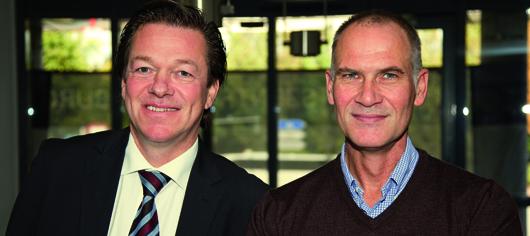 Personal-Rochade bei Aura Light: Der neue Geschäftsführer Stefan Hackmann (links) und sein Vorgänger und jetziger COO der Aura Light International AB, Frank Veldhoven