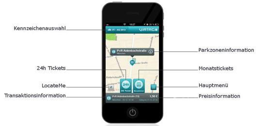 So sieht die VIATAGapp auf einem Smartphone aus.