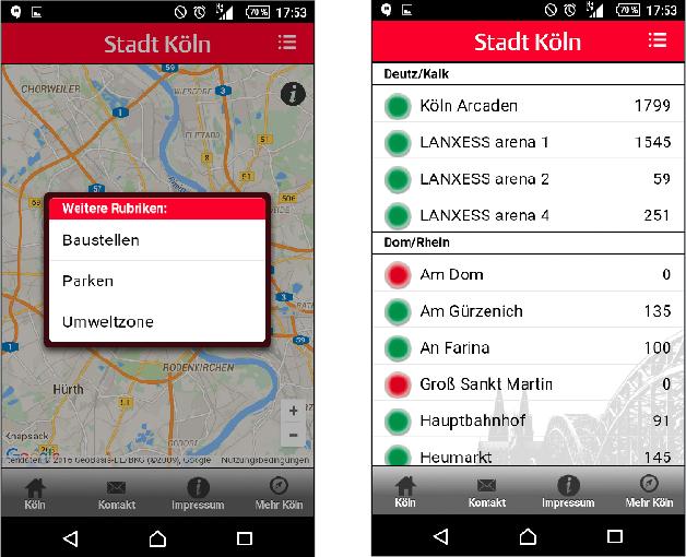 Die App der Stadtverwaltung Köln