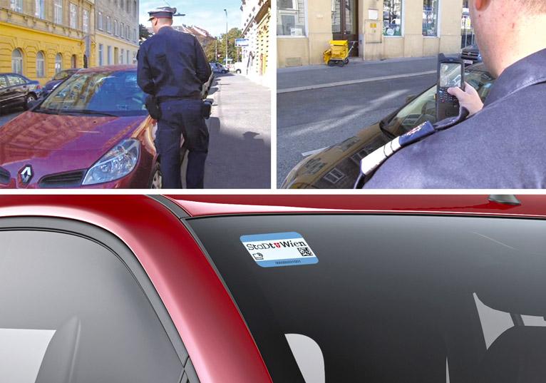 Parkpickerl mit Hitech-Innenleben: In Wien erleichtern diese RFID-Tickets den Ordnungsbeamten die Arbeit.