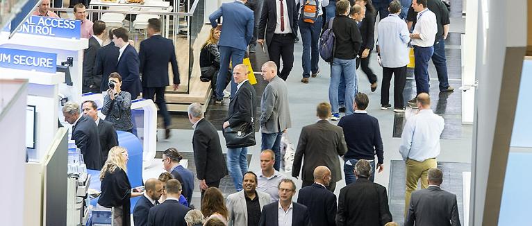 Rund 1.000 Aussteller aus 45 Nationen stellten ihre Produkte und Lösungen auf der Messe Security vor. Foto:Rainer Schimm/©MESSE ESSEN GmbH