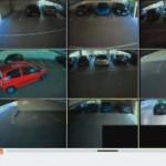 Videobilder der Überwachungskameras