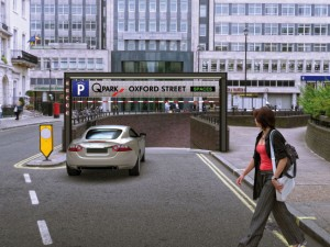 Oxford Street: Animation eines Q-Park-Hauses in London