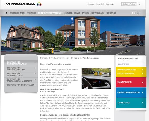 Screenshot der neuen Webseite von Scheidt & Bachmann