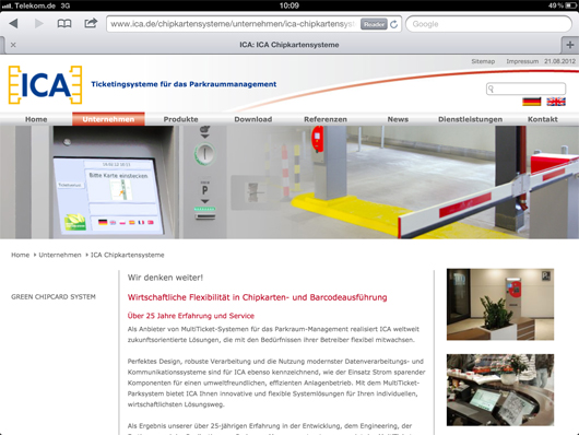 Relaunch: Der neue Internetauftritt ist seit 1.8.2012 online.