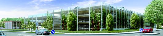 Holiday Parkplus am Flughafen Hamburg: Das neue Parkhaus mit 1.200 Stellplätzen soll am 1. Oktober eröffnet werden. Foto: obs/SportStadianet