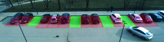 Forschungsprojekt: Belegungsstatus eines Parkplatzes per Video erfassen Foto: RUB