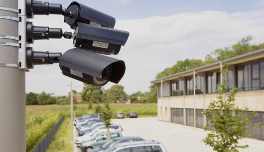 Videoüberwachter Parkplatz