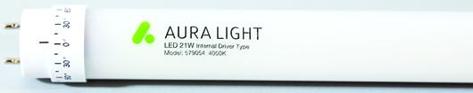 Mit der Retrofit-LED-Röhre von Aura Light lassen sich laut Unternehmen bis zu 70 Prozent des Energieverbrauchs sparen. Foto: Aura Light