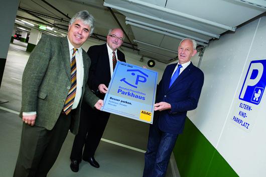 Drei Parkhäuser der WBI wurden erneut vom ADAC ausgezeichnet.