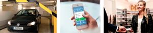 Kontaktlos Bezahlen, berührungsloses Einfahren ins Parkhaus und Parkgutschriften sammeln: evopark ist mehr als eine reine Parken-App.
