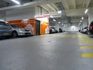 Die Parkgarage am Museumsquartier wurde während des laufenden Betriebs saniert.