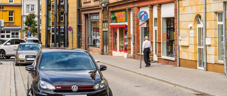 Den Parkplatz (fast) vor der Tür
