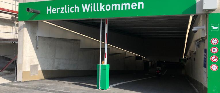 Neues Free Flow Parking-System ist in Betrieb gegangen