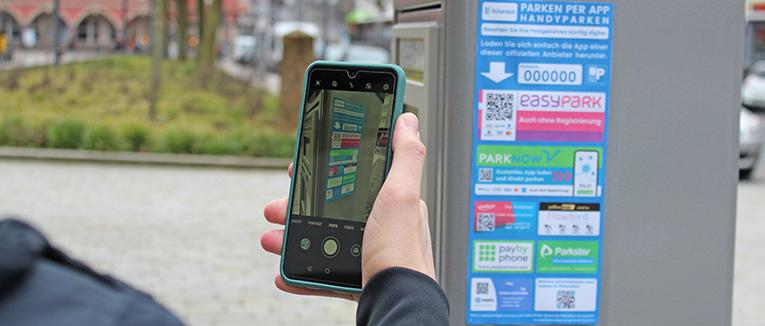 Digitales Parken ist in Zeiten von Corona gefragter denn je. – Foto: Stadt Gütersloh