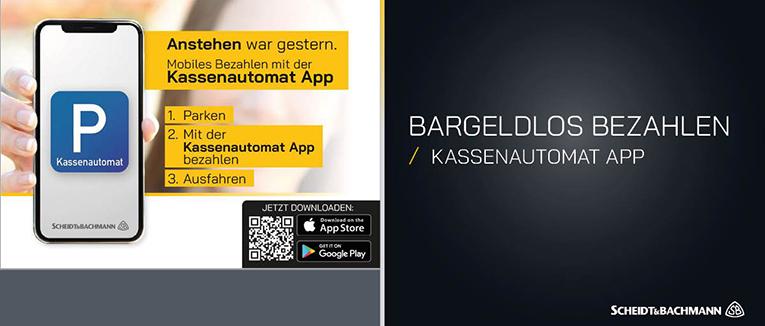 Die Kassenautomat-App von Scheidt & Bachmann kommt bereits in neun Parkhäusern in Hannover zum Einsatz. – Foto: Scheidt & Bachmann